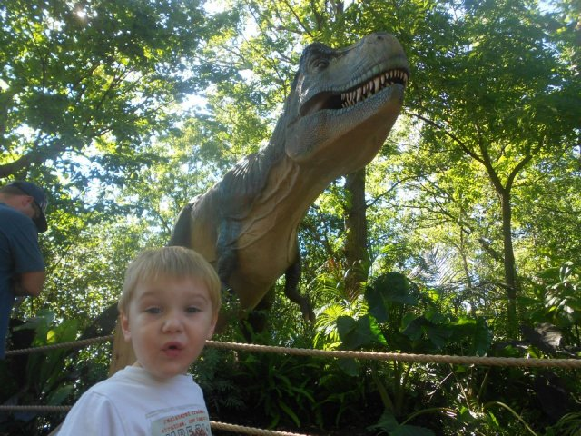 Buddy loved dinosaurs before we took him to the dinosaur exhibit at the zoo. But now... he's borderline obsessed!