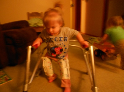 October 16th, 2012. Peanut takes her first steps!