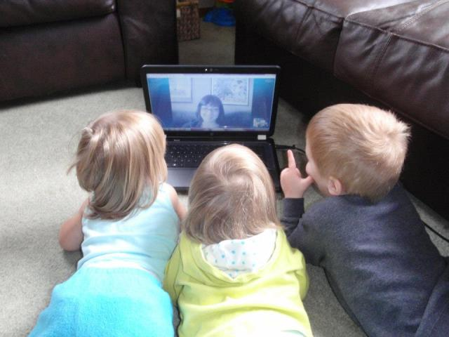 The kids LOVE to skype with my sister who lives on the east coast.